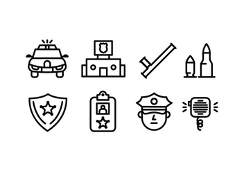 Police icons - vector #440229 gratis