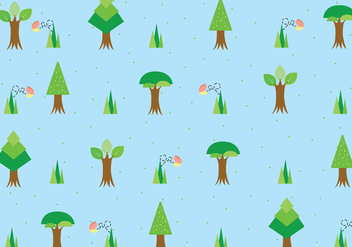 Tree With Roots Pattern Vector - vector #440239 gratis