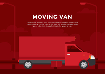 Moving Van Free Vector - бесплатный vector #440259