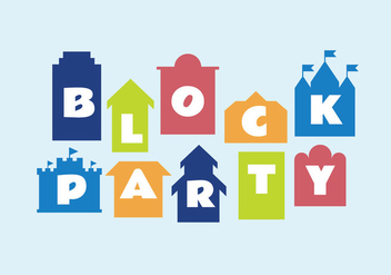 Block party vector illustration - vector #440269 gratis