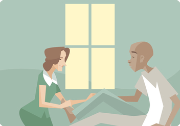 Physiotherapist Giving a Leg Massages Vector - Free vector #440299
