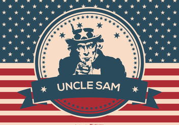Uncle Sam Retro Patriotic Illustration - бесплатный vector #440309