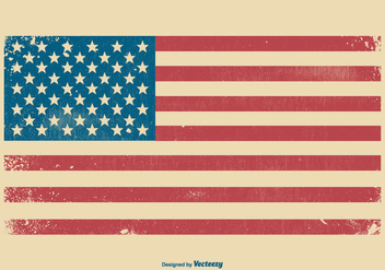 American Grunge Flag Background - vector #440319 gratis