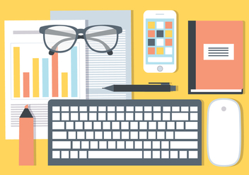 Free Office Desk Vector Elements - vector gratuit #440359