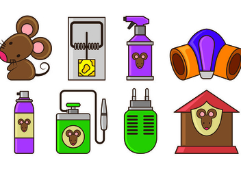 Set Of Mouse Trap Icons - vector gratuit #440409