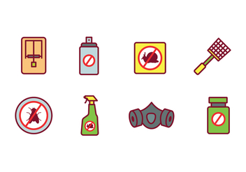 Pest Control Icon Set - Free vector #440429
