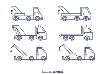 Towing Truck Vector - vector #440439 gratis