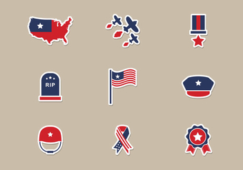 Memorial Day Icons Vector - бесплатный vector #440459
