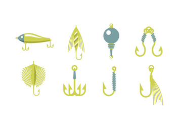 Fishing equipment vectors - vector gratuit #440469