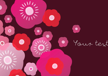 Red Blooming Background - vector gratuit #440499