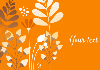 Orange Floral Background - vector #440509 gratis