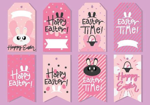 Cute Easter Gift Tag - Free vector #440559