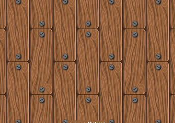 Seamless Wood Planks Pattern - Vector - Kostenloses vector #440589