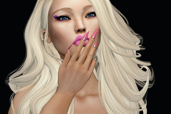 Diana MESH Nails & Cute Liner by SlackGirl @ eBento Event - бесплатный image #440689