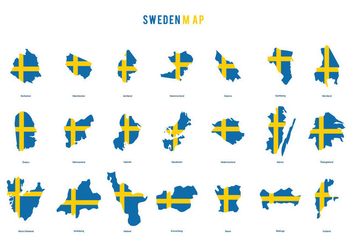 Sweden Map Vector - бесплатный vector #440729