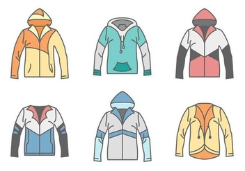 Free Unique Windbreaker Vectors - бесплатный vector #440759