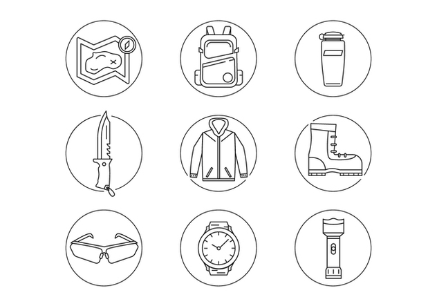 Outdoor Activity Gear - vector gratuit #440829
