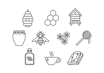 Beekeeping Icons Vector - бесплатный vector #440849