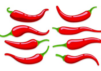 Set Of Chili Vectors - Free vector #441049