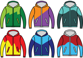 Windbreaker Jacket Vector - Free vector #441069