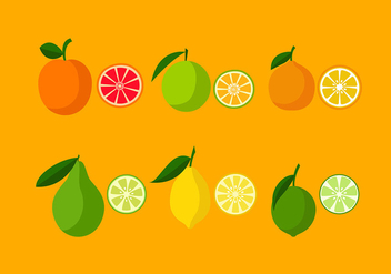 Various Orange Icon Set Free Vector - vector gratuit #441139