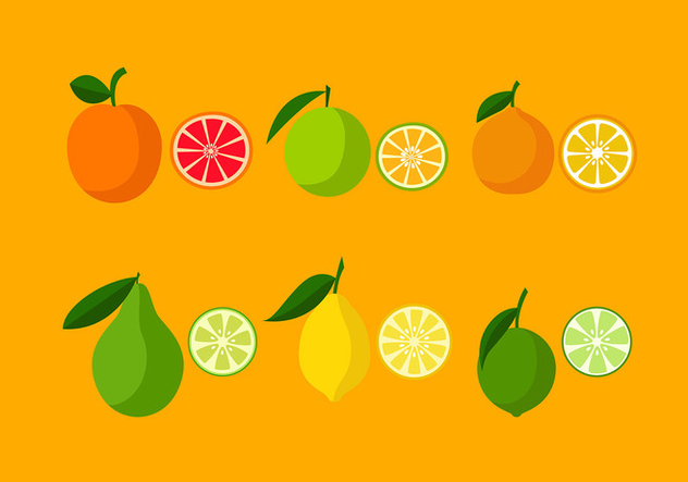 Various Orange Icon Set Free Vector - Free vector #441139
