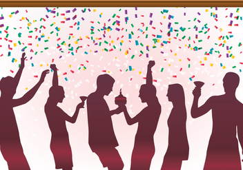 Birthday Celebration Party - Free vector #441259