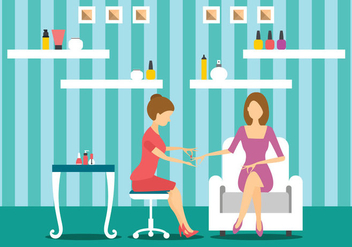 Manicurist Character Makes A Professional Manicure - Free vector #441299