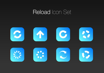 Update Simple Icon Set Free Vector - vector #441339 gratis