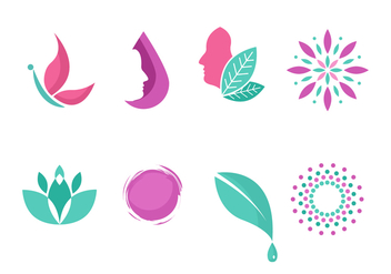 Free Beauty Clinic Logo Symbol Collection - бесплатный vector #441349