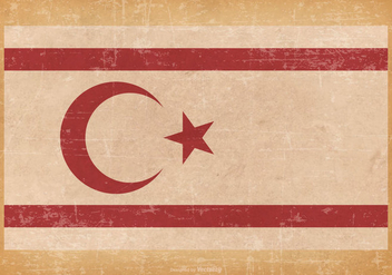 Grunge Flag of Turkish Republic of Northern Cyprus - vector gratuit #441369