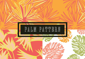 Palm Leaves Pattern - Kostenloses vector #441389