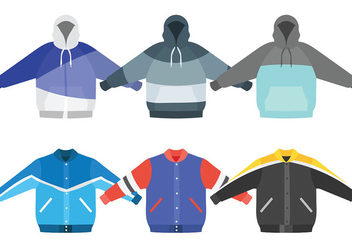 Windbreaker Vector Icons - vector #441409 gratis