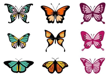 Free Colorful Butterflies Vector - Free vector #441429