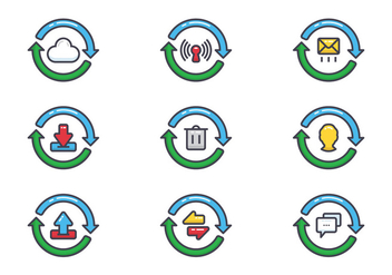 Update Icons Set - Free vector #441439