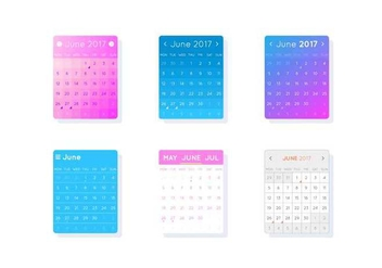 Free Unique Desktop Calendar Vectors - бесплатный vector #441459
