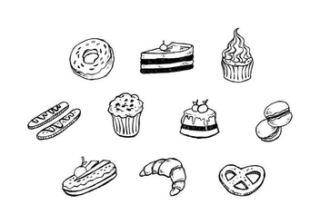 Free Dessert Hand Drawn Icon Vector - vector #441469 gratis