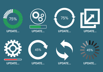 Update Icons Set - vector gratuit #441489