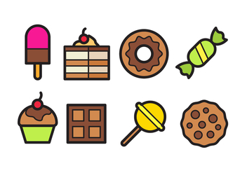 Sweet Food Icon Pack - Free vector #441579