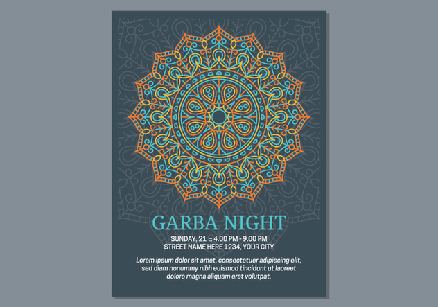 Garba Poster Template - Free vector #441589