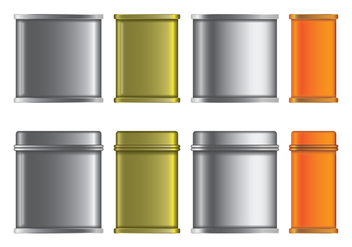 Blank Tin Box Vectors Set - бесплатный vector #441629
