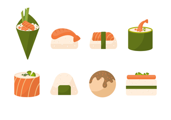 Free Sushi Vector Collection - бесплатный vector #441639