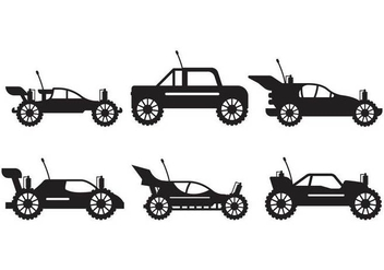 Rc Car silhouette set - vector gratuit #441669