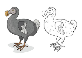 Grey Dodo Bird Illustration - vector #441679 gratis