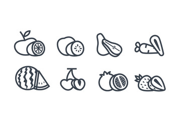 Fruits vector icon - vector #441709 gratis