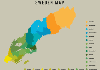 Sweden Map Vector Illustration - бесплатный vector #441739
