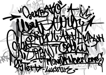 Vector Graffiti tags monocrome background - Free vector #441799