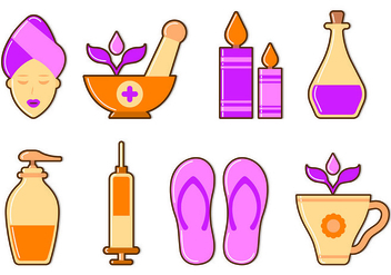 Set Of Beauty Clinic Icons - Free vector #441829