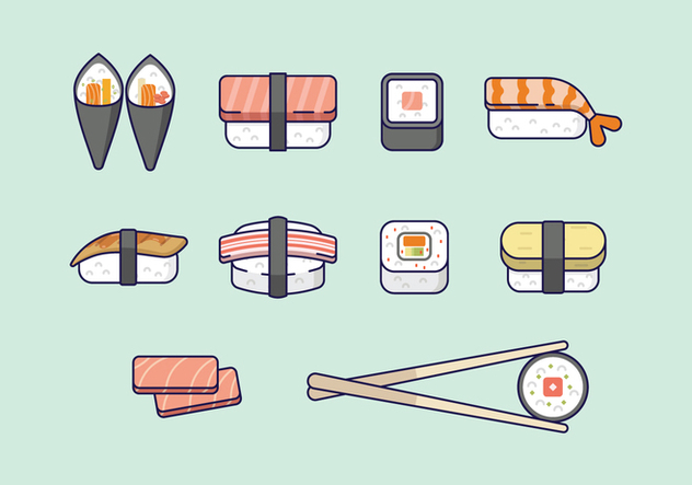 Free Sushi Icons - vector gratuit #441859