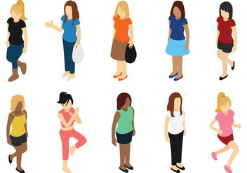 Woman Vector Icons - vector #441879 gratis